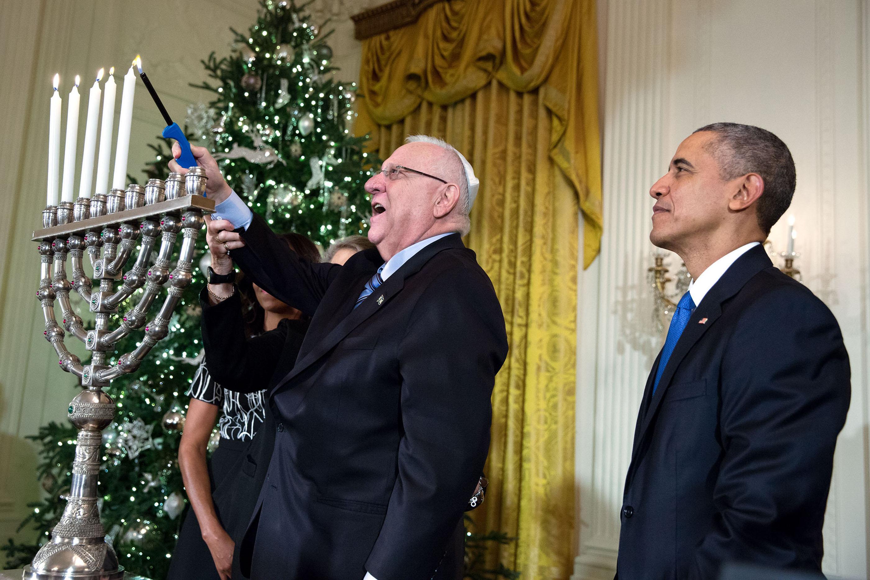 Lighting the Menorah at the White House
