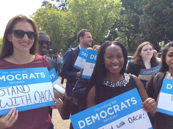 DNC Fall 2017 interns at a DACA rally