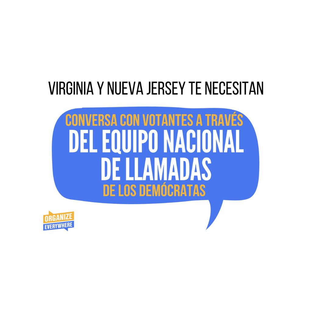 CONVERSA CON VOTANTES A TRAVÉS DEL EQUIPO NACIONAL DE LLAMADAS DE LOS DEMÓCRATAS